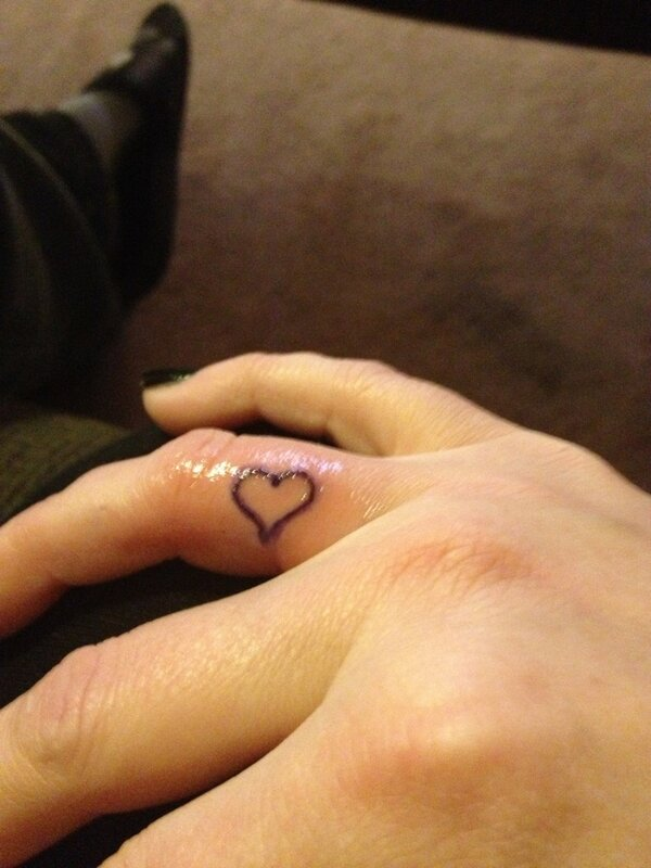 60 Cool Heart Tattoos On Fingers