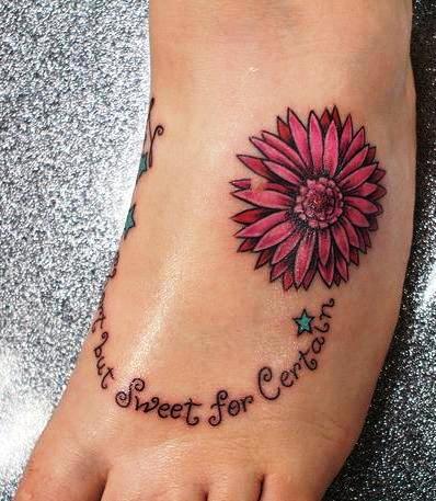 64b39120d Amazing Daisy Flower Ankle Tattoos