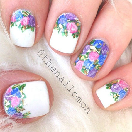 - Amazing Spring Flowers Nail Art Design