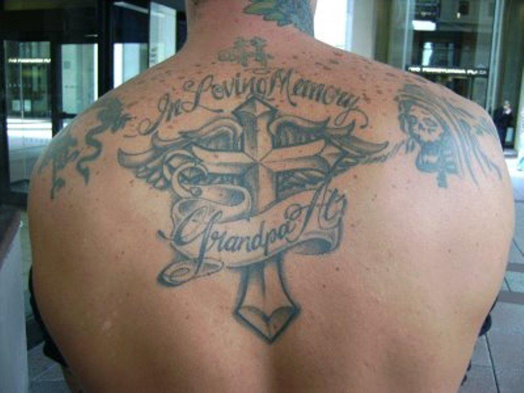 45 memorial angel tattoos ideas for Memorial tattoos for grandpa