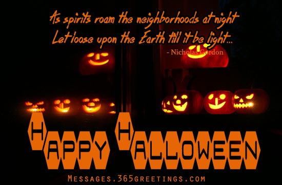 Superb Happy Halloween Scary Silhouette Pumpkins Picture. As Spirits Roam The  Neighborhoods At Night Let Loose Upon The Earth Till It Be Light