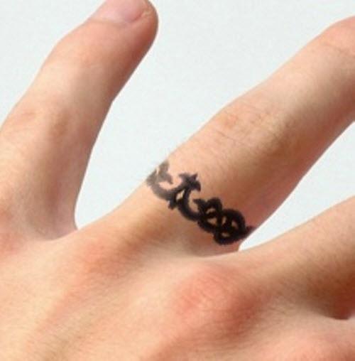 27+ Finger Ring Tattoos