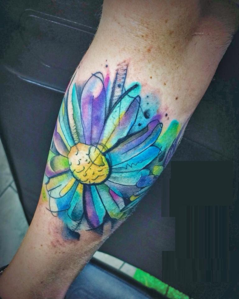 Watercolor Daisy Tattoo: 50+ Latest Daisy Tattoos Ideas
