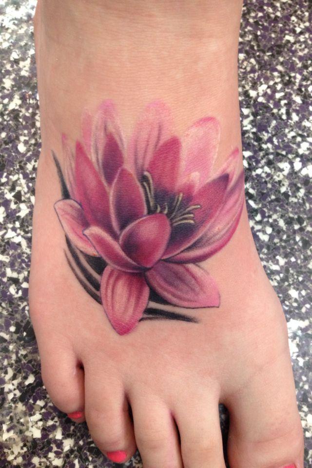 72 best flower tattoos on foot. Black Bedroom Furniture Sets. Home Design Ideas
