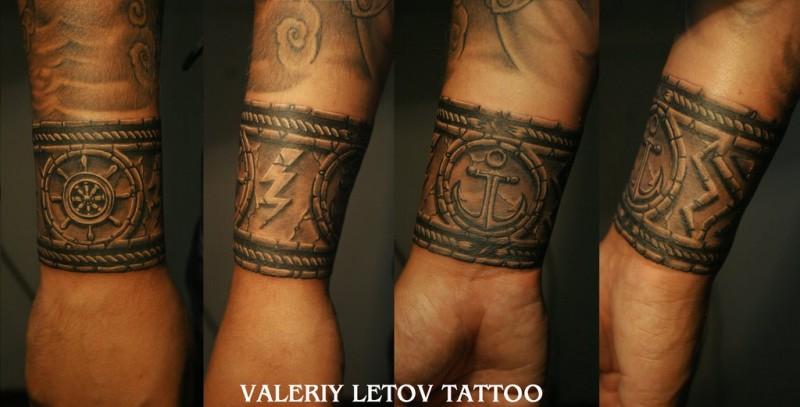 16 Bracelet Tattoos On Wrist For Men