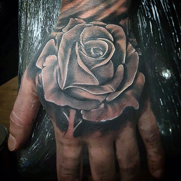 31 rose tattoos on hands for men. Black Bedroom Furniture Sets. Home Design Ideas