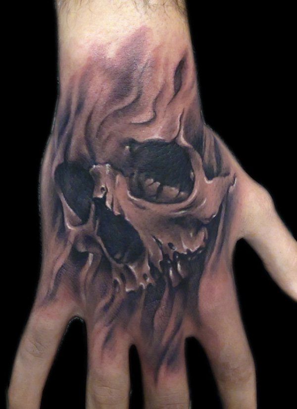 20 skull hands tattoos for men. Black Bedroom Furniture Sets. Home Design Ideas