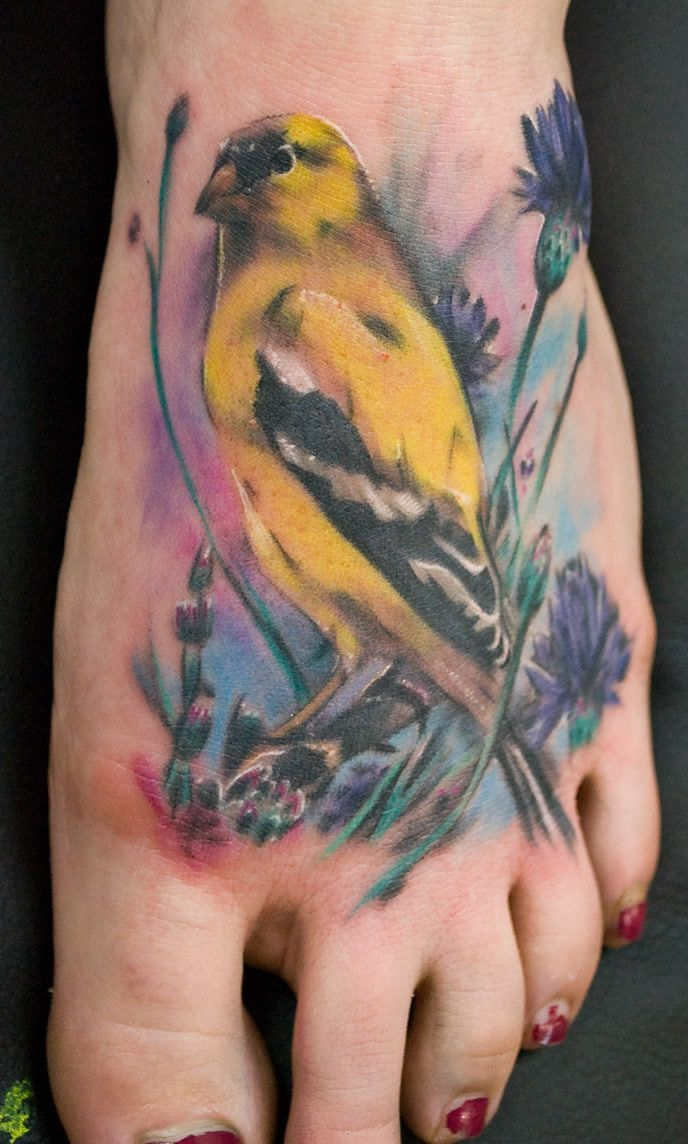 35+ Bird Tattoos On Foot