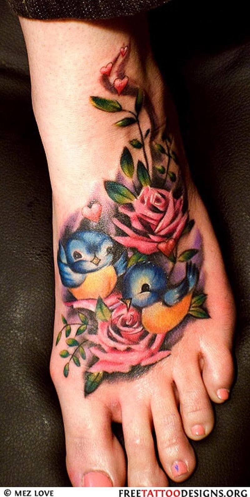 55 beautiful rose tattoos on foot beautiful birds with roses foot tattoo izmirmasajfo