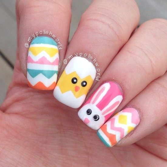 Easter Bunny Nails: 60 Incredible Easter Nail Art Ideas