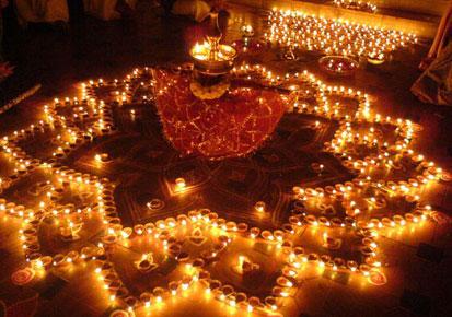 Beautiful Diyas Decoration For Diwali