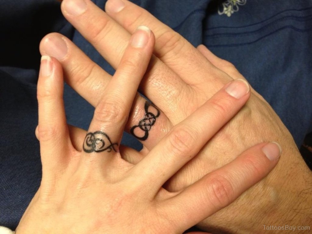 What does a finger ring finger tattoo mean on it was depicted a crown
