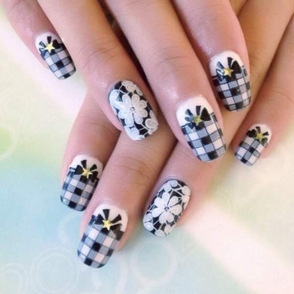 Fantastic white flower nail art composition nail paint design beautiful white flower nail designs component nail art design mightylinksfo