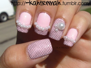Nail art pearls image collections nail art and nail design ideas 52 most adorable pearls nail art design black lace and pearls design nail art prinsesfo image prinsesfo Image collections