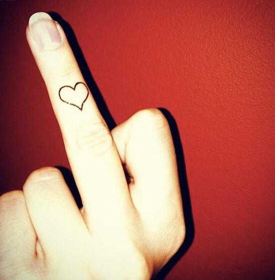 50+ heart finger tattoos for girls