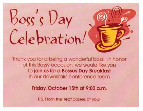 55 latest boss day wish pictures and photos boss day celebration invitation m4hsunfo
