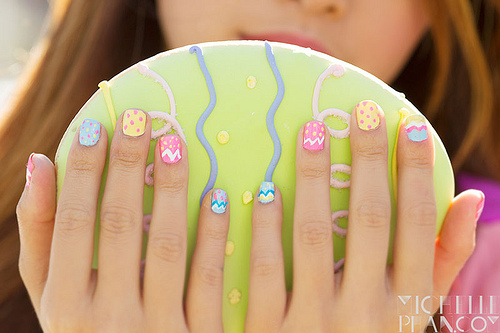 Bright Easter Eggs Nail Art
