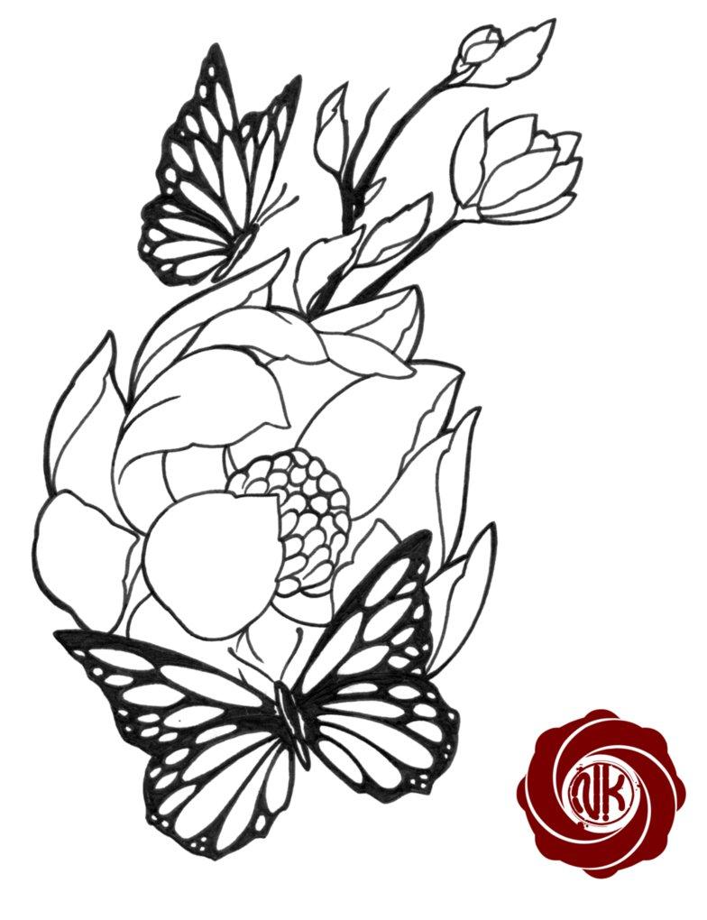 55 butterfly flower tattoos butterflies and flowers tattoo design altavistaventures Images