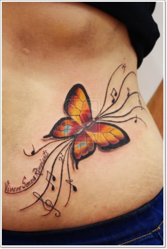 60 Butterfly Tattoos | Feminine And Tribal Butterfly ... |Tribal Butterfly Tattoos On Hip