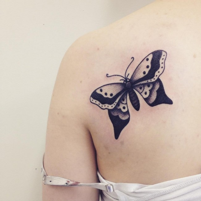 98b248cfb5692 65+ Wonderful Butterfly Tattoos For Girls