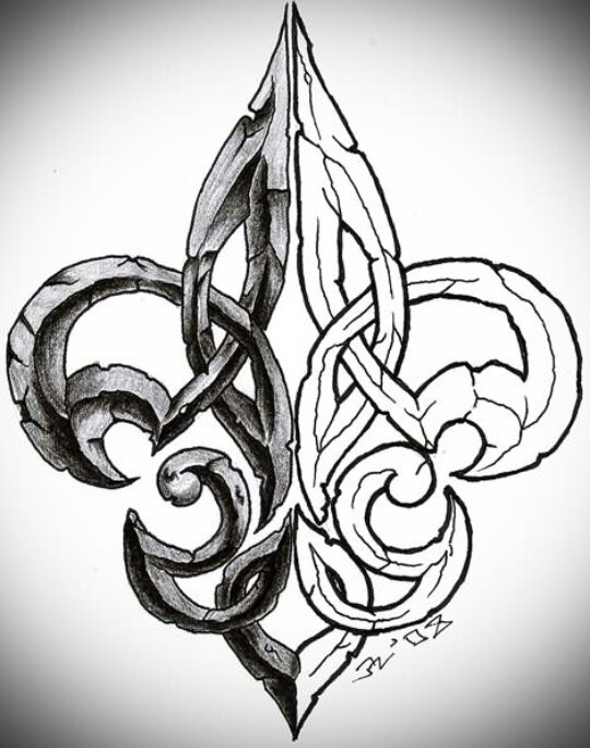 36 latest fleur de lis tattoo designs. Black Bedroom Furniture Sets. Home Design Ideas
