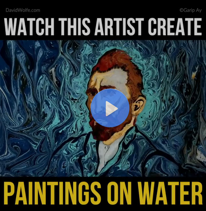 Checkout How Artist Creates Painting On Water