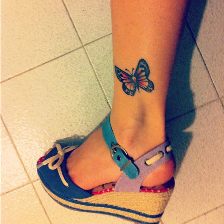 67+ Butterfly Tattoos On Ankle