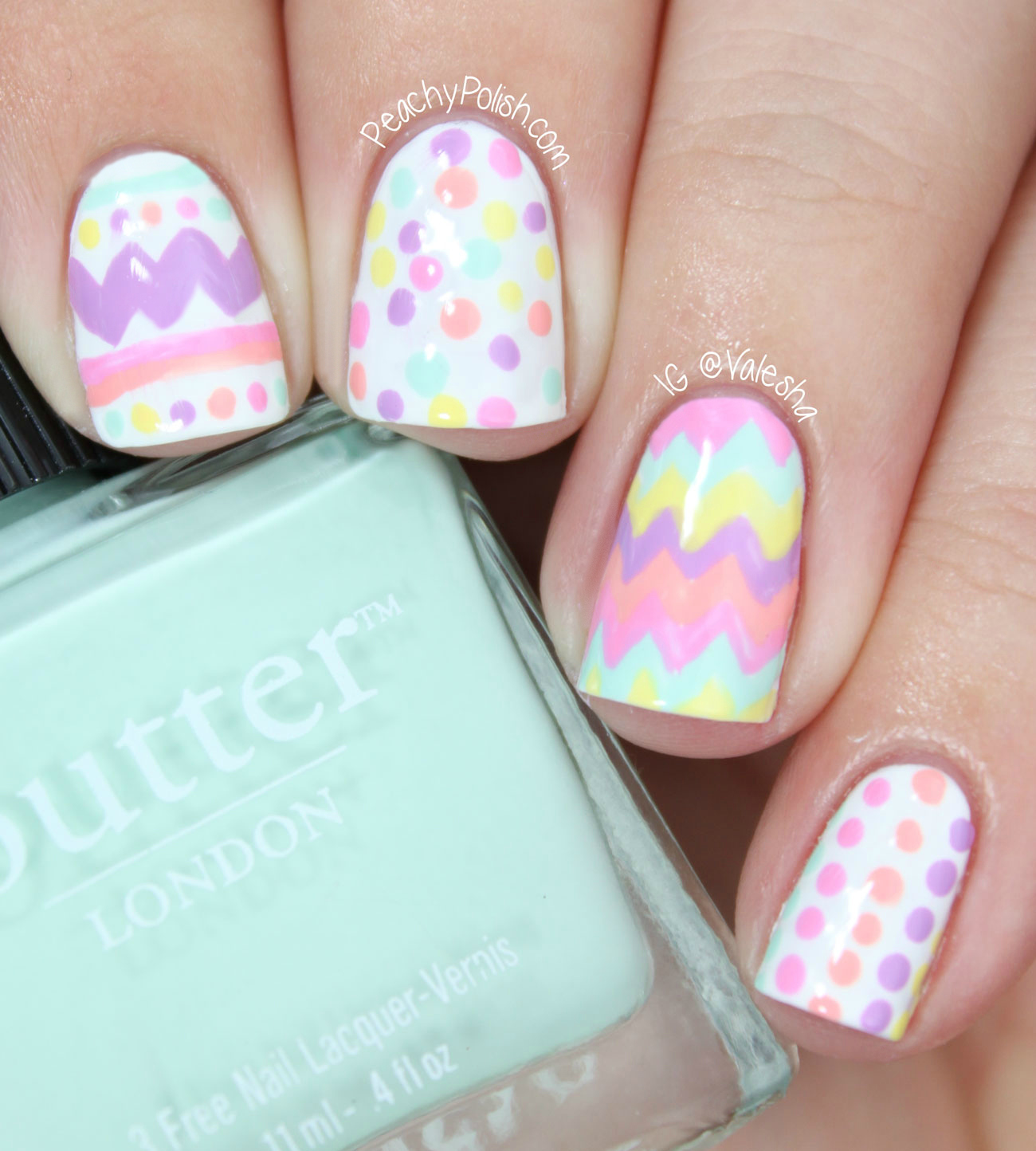 Colorful Easter Eggs Nail Art Design