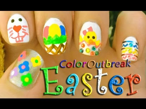 Colorful Easter Nail Art With Tutorial Video