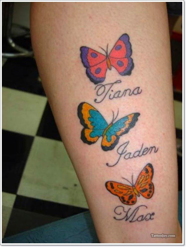 70 cute butterfly tattoos collection for Butterfly memorial tattoos