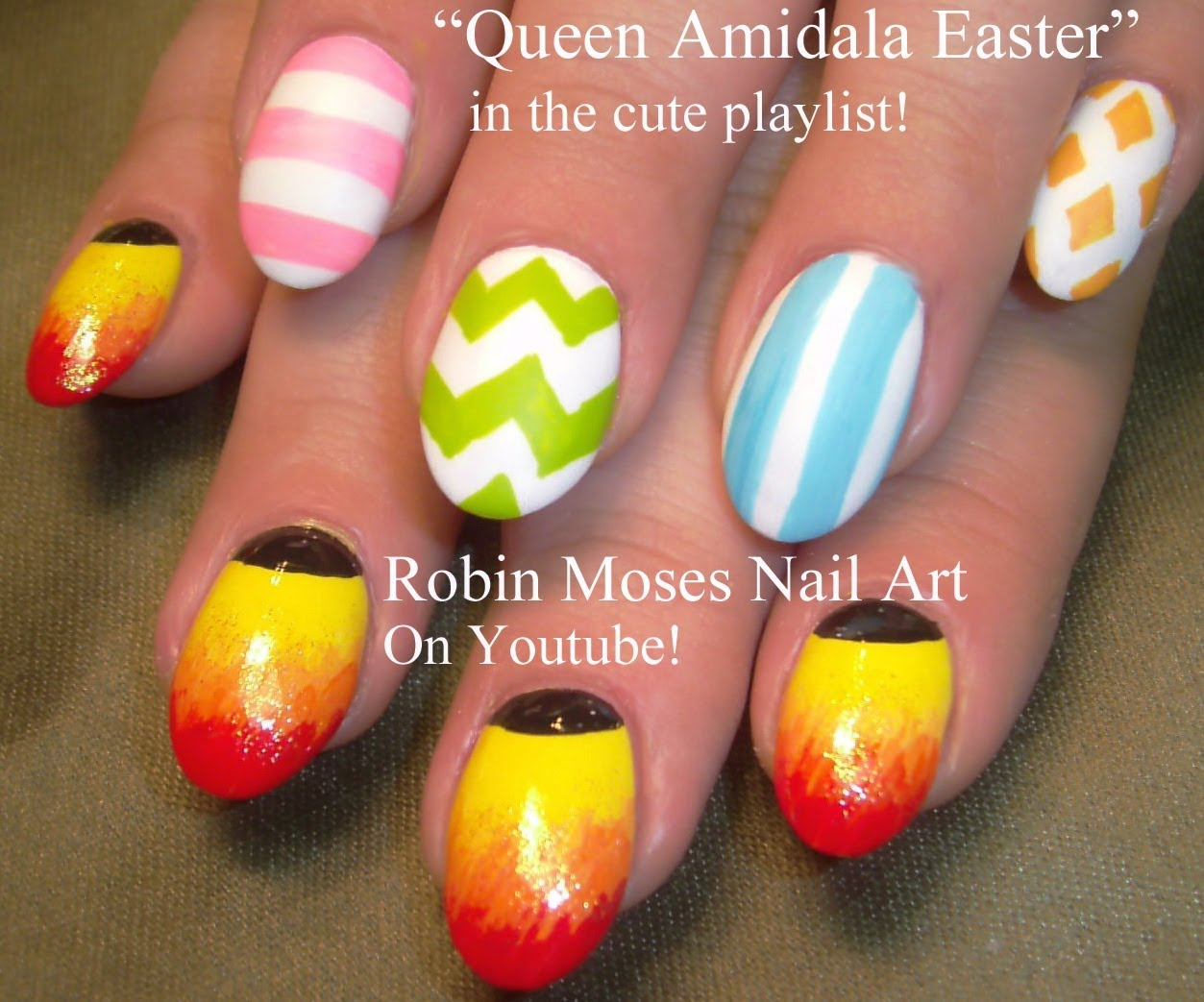 Colorful Pastel Easter Egg Nail Art With Tutorial Video