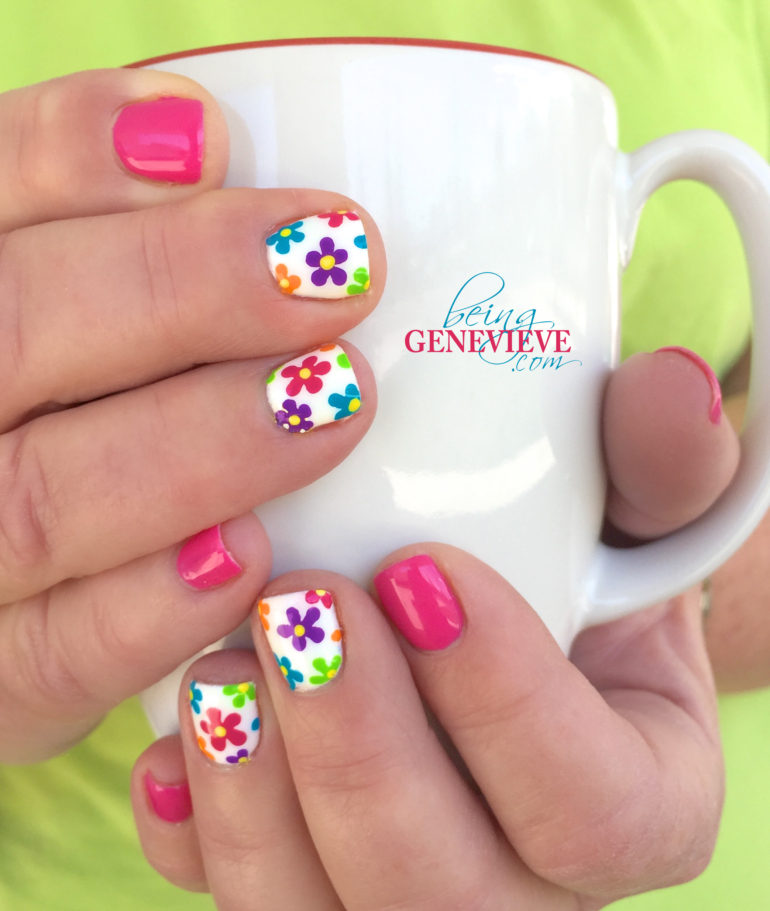 Floral Manicures For Spring And: 50 Beautiful Spring Nail Art Design Ideas