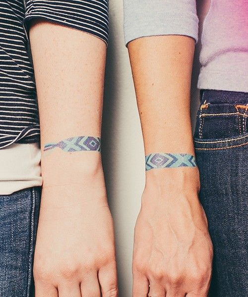 Friendship Bracelet Tattoos Friendship Bracelet Tattoos: 16+ Bracelet Tattoos On Wrist For Men