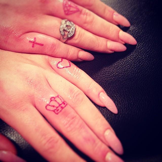 Finger tattoos for Cross tattoos on finger