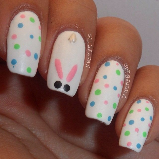 Easter Bunny Nail Art: 35 Beautiful Easter Nail Art Design Ideas For Trendy Girls