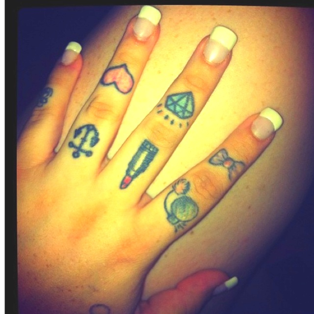 8cd4ddd15 50+ Beautiful Girly Finger Tattoos