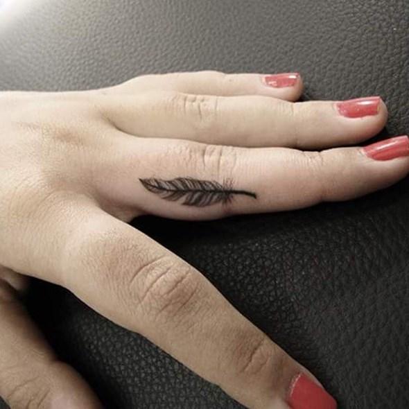 32 feather tattoos on fingers. Black Bedroom Furniture Sets. Home Design Ideas