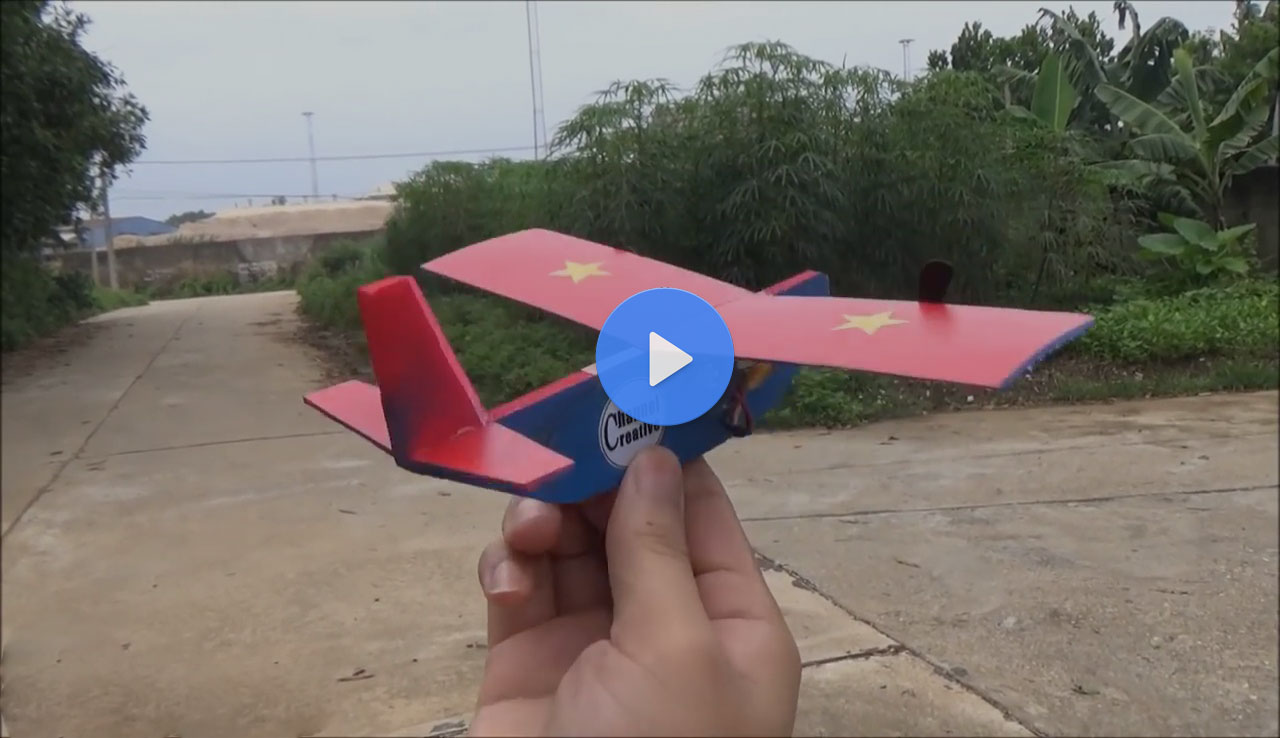 DIY - How to make a Remote Controlled Airplane