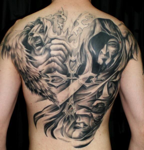 54+ Angel Tattoos On Full Back