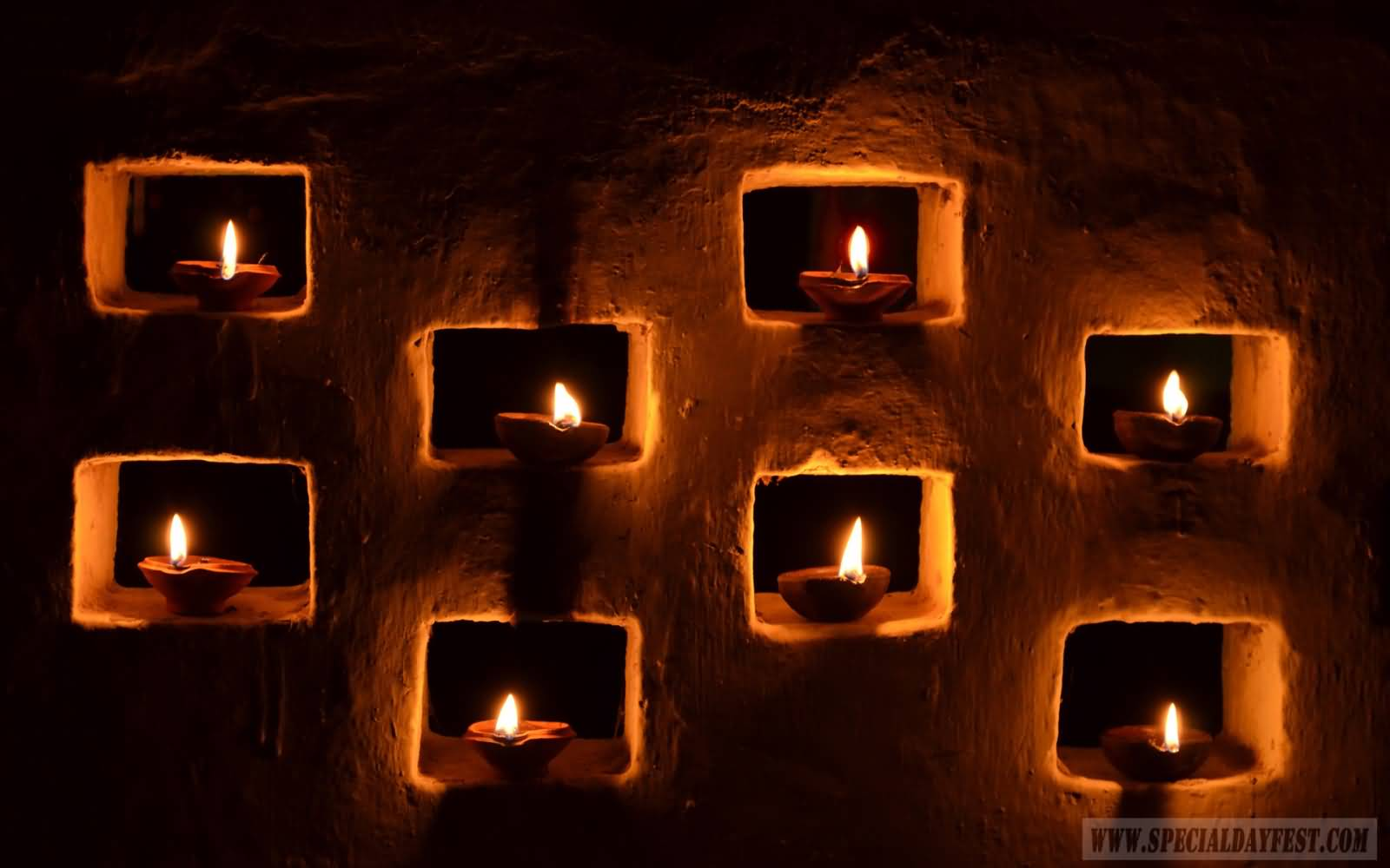 Ideas For Diwali Decoration At Home Part - 41: Diyas Decoration Idea For Diwali