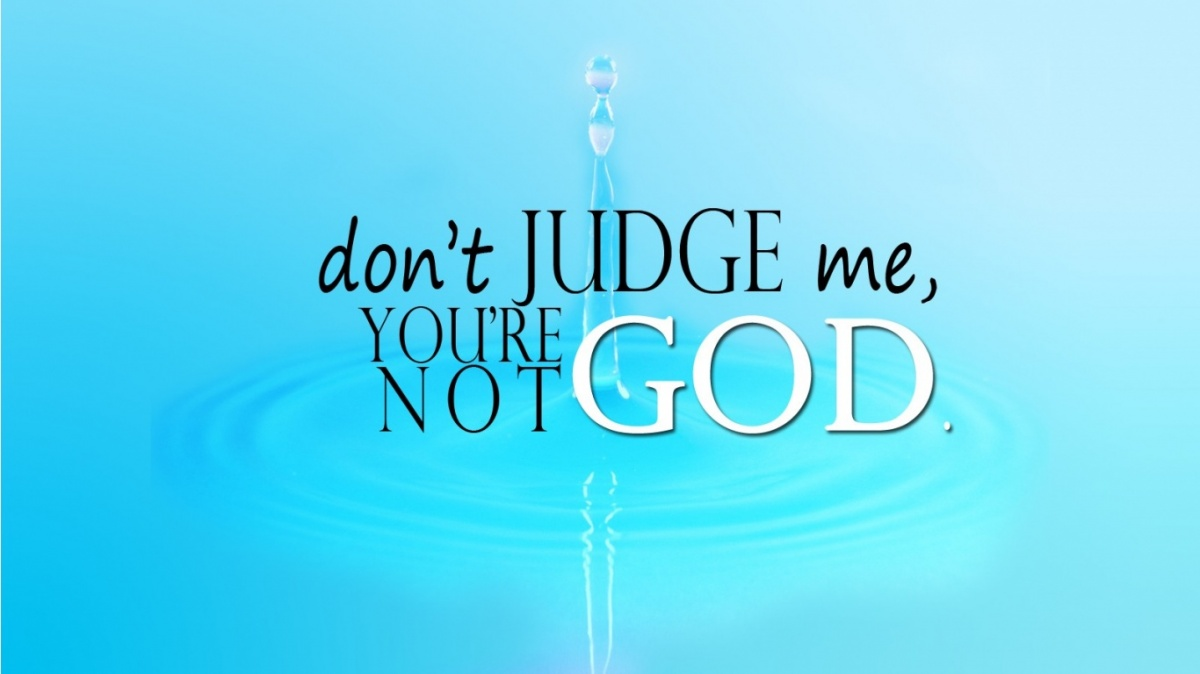 we should never judge a person based on his or her outside appearances How many of us christians can admit to judging people based on their  appearances i have a confession: i'm bad about it sometimes i can.