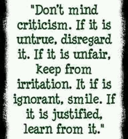 Image result for learn from criticism