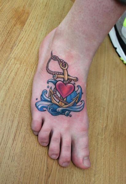 65 best anchor foot tattoos. Black Bedroom Furniture Sets. Home Design Ideas