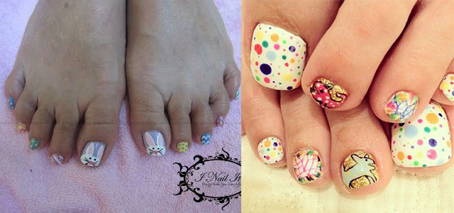 10 adorable easter toe nail art designs easter toe nail art ideas prinsesfo Images