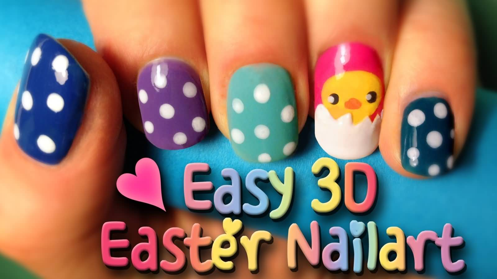 Easy 3D Easter Nail Art With Tutorial Video