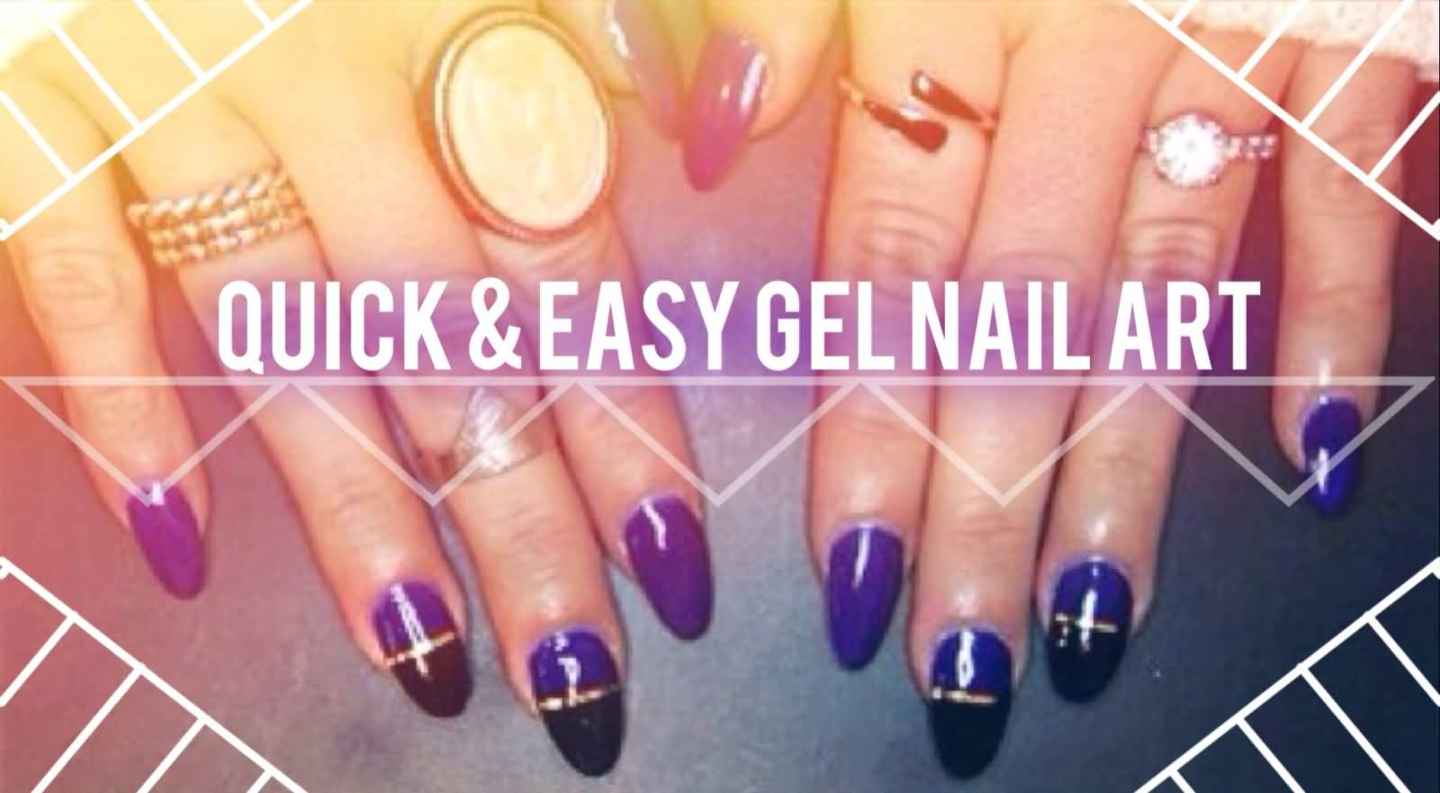 Easy Gel Nail Art With Tutorial Video