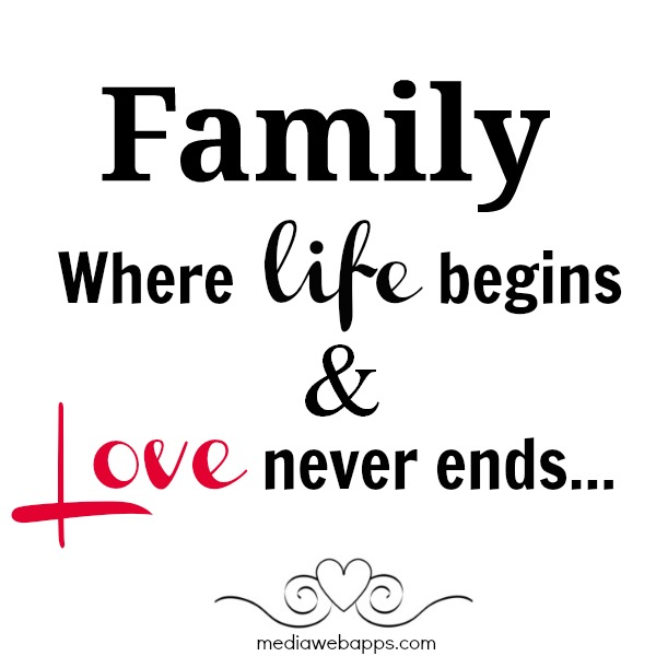 Amazing FAMILY Where Life Begins And Love Never Ends.