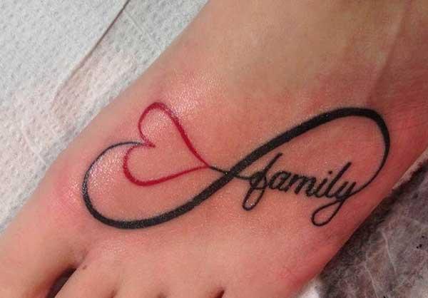 10 Infinity Heart Tattoos On Foot