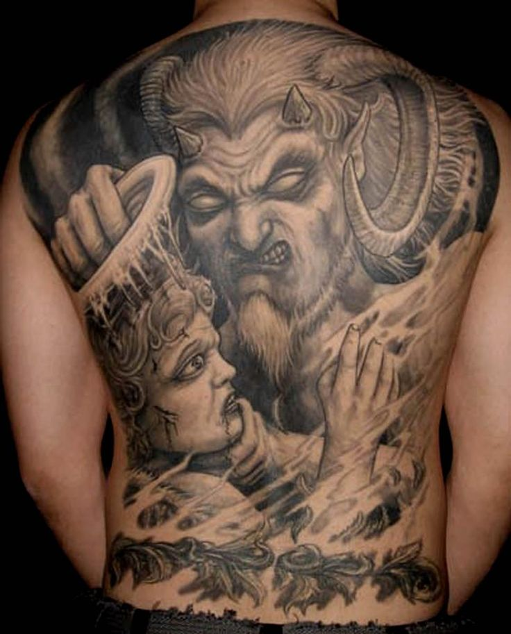 angels vs demons war tattoo - photo #24