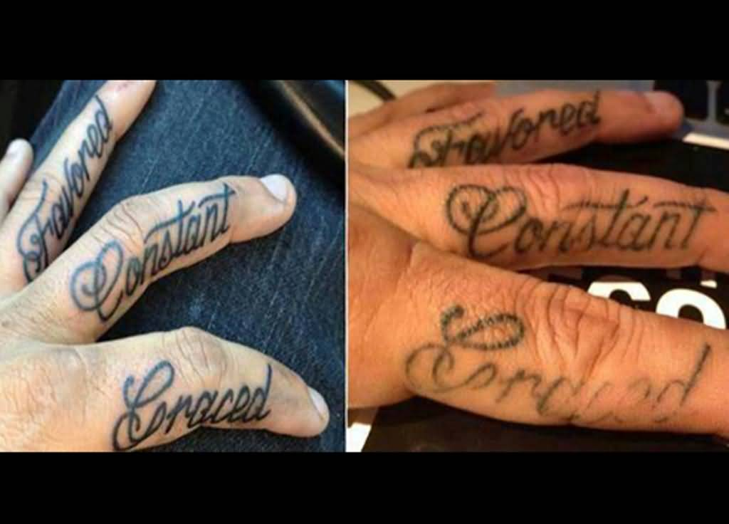 Fingers word before and after tattoo for Healing hand tattoo